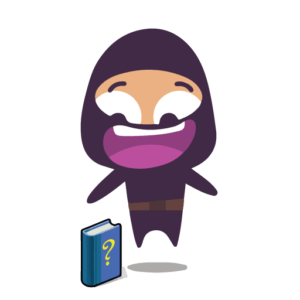 Manual Ninja looking at a user guide