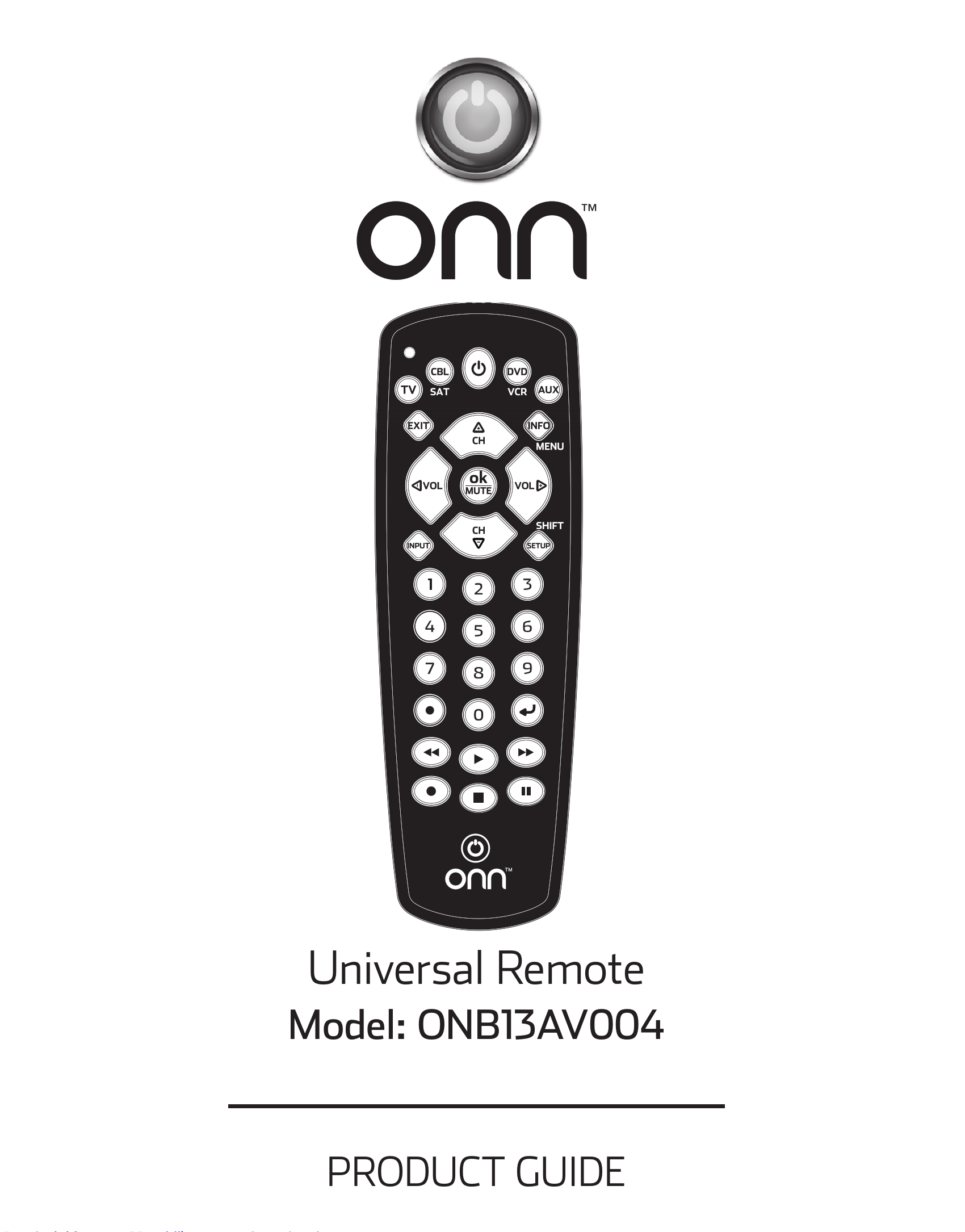 Onn Universal Remote Manual And Codes Onb13av004 Ninja How Do I Hook Up The Entry Feature Of A Start Unit In