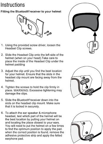 cocoon motorcycle helmet bluetooth kit instructions