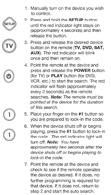 Onn Universal Remote Manual and Codes [ONB13AV004] – Manuals+