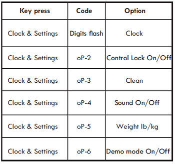 CLOCK & SETTINGS