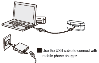 Use the USB cable to connect with computer