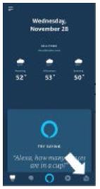 Amazon Alexa App, navigate