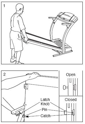 HOW TO FOLD THE TREADMILL FOR STORAGE