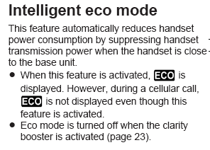 Intelligent eco mode