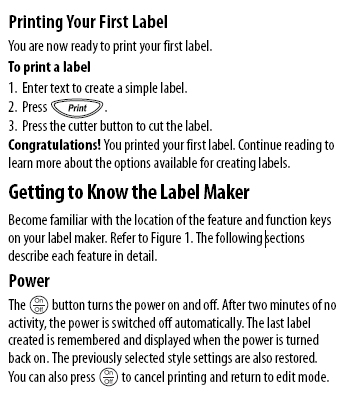 Printing Your First Label