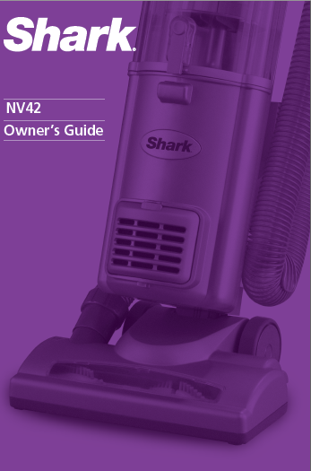 Shark Nv42 Vacuum Cleaner Manual Manuals