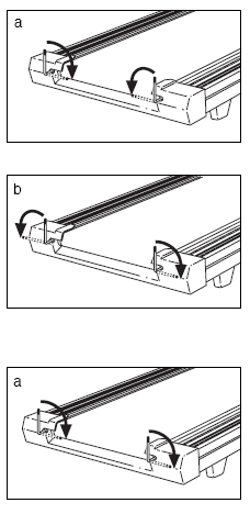 The walking belt is off-center