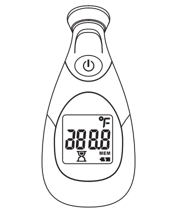 Digital Temple Thermometer KD-2201, Instruction Manual, User Manual,Thermometer,KD-2201,