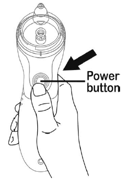 Press and hold the power button