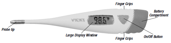 VICKS Speed-ReadTM Digital Thermometer