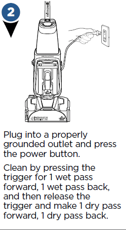 Plug into a properly grounded outlet and press the power button