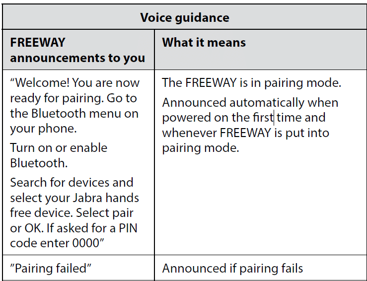 Voice guidance