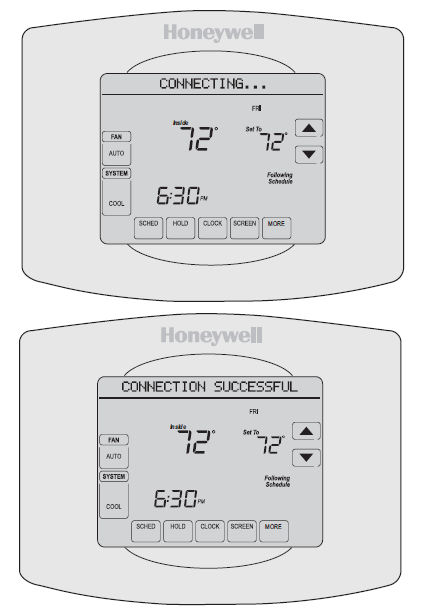 Make sure your thermostat is connected