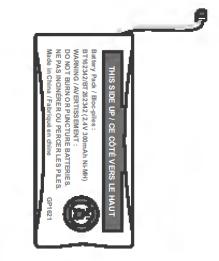Battery for cordless handset