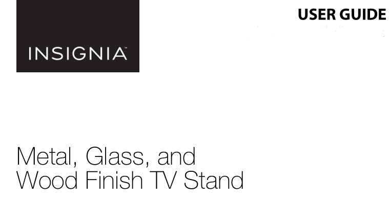 Insignia NS-HWMG1754G Metal, Glass and Wood Finish TV Stand User Manual