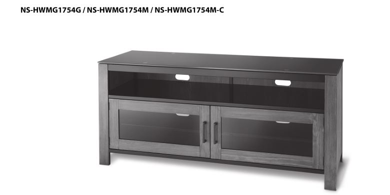 Insignia NS-HWMG1754G Metal, Glass and Wood Finish TV Stand
