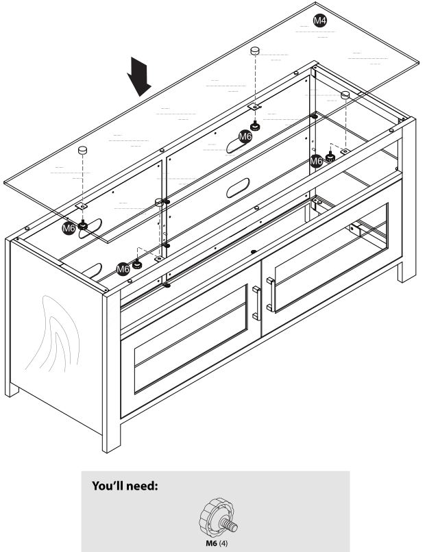 Insignia NS-HWMG1754G TV Stand - Installing the top