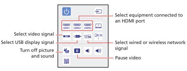 PowerLite EB-720-EB-725W Projector - Using web remote