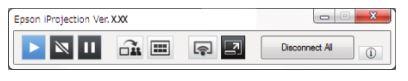 PowerLite EB-720-EB-725W Projector - floating toolbar
