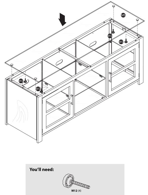 TV Stand NS-HWMG1663 - Installing the top