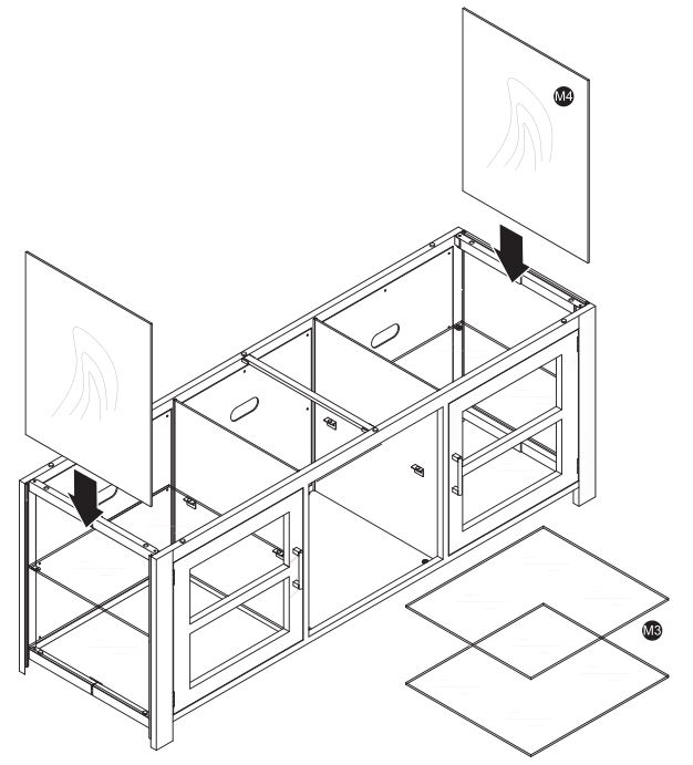TV Stand NS-HWMG1663 - Installing the wooden sides