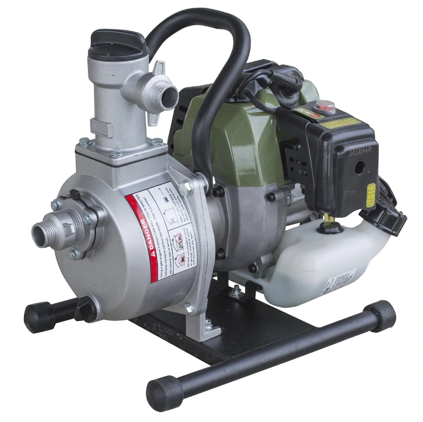 1-Inch Water Pump 2-Cycle Engine Operating