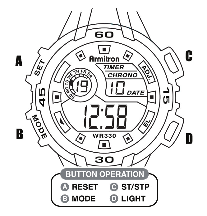 Armitron M1090 Series Watch