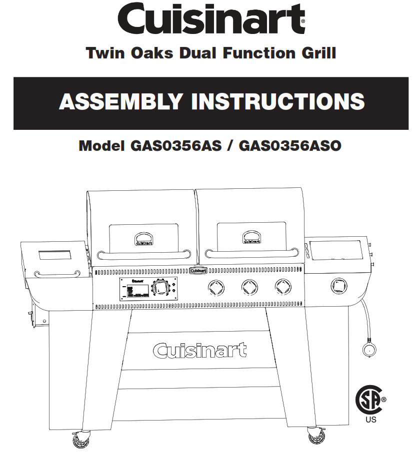 Cuisinart Twin Oaks Dual Function Grill GAS0356AS