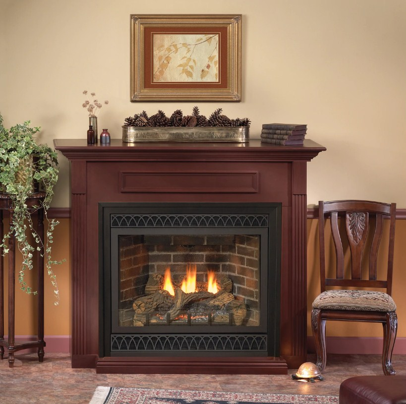 Empire DVLXG55BP90N / DVLXG55SP90N Direct Vent Zero Clearance Gas Fireplace Heater