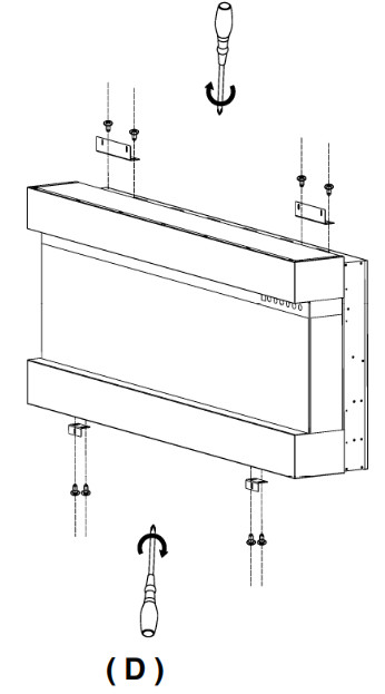 Engine Only Recessed To Wall Installation Fig D