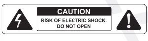 FIG 1 RISK OF ELECTRIC SHOCK