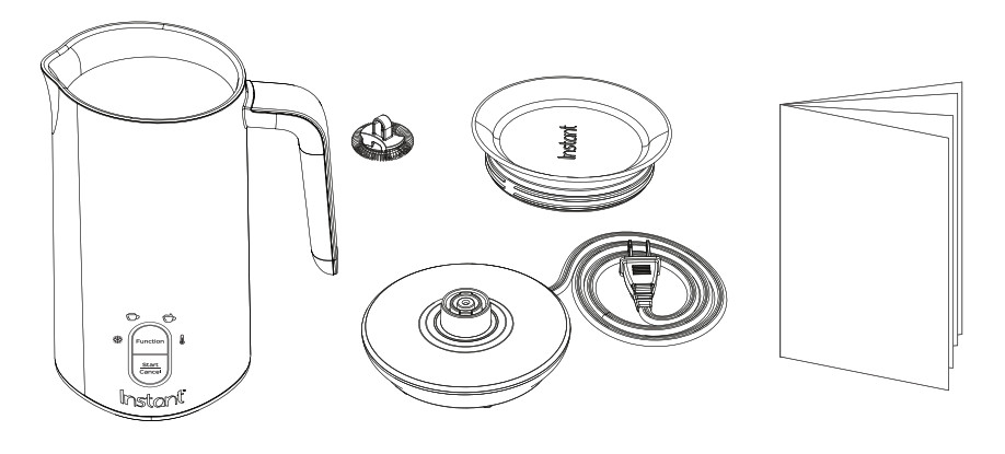 Instant Milk Frother User Manual - what's in the box