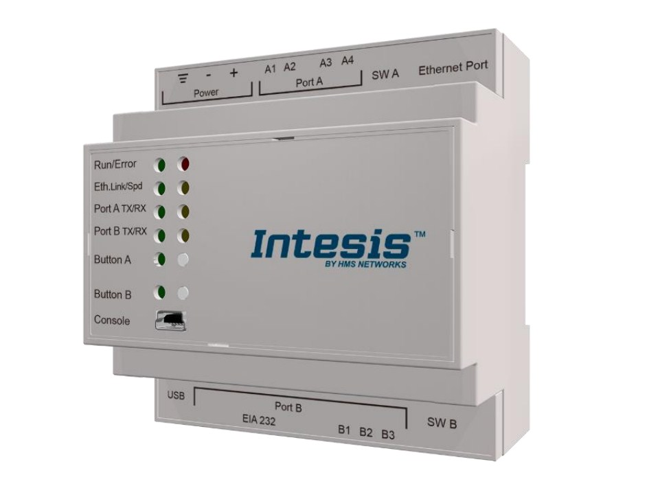 Intesis Modbus Server for Hisense Air Conditioning Gateway integration of VRF Systems