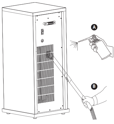 LifeSmart Infrared Tower Heater - CLEANING THE AIR INTAKE VENT