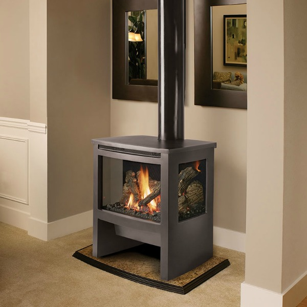 Lopi Cypress GSR2 Direct Vent Freestanding Stove & Natural Gas or Propane