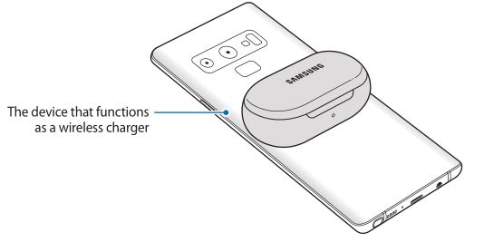 Samsung Galaxy Earbuds - Charging the battery using PowerShare