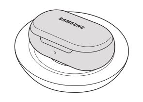 Samsung Galaxy Earbuds - Charging the battery with a wireless charger