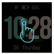 Smart Watch ID205L - customize the home screen