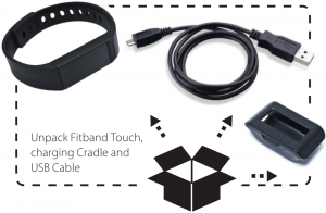 Unpack Fitband Touch