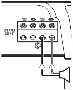 When connecting to one speaker