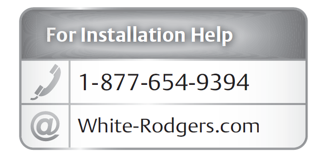 White Rodgers Thermostat Instruction Manual