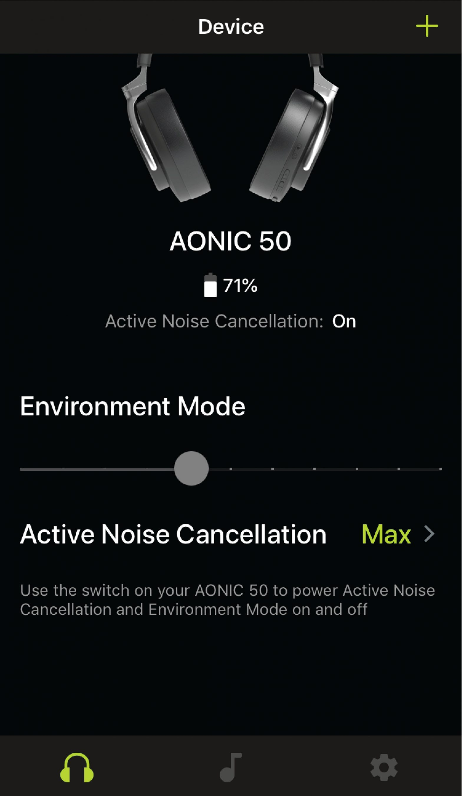 shure-aonic-50-wireless-headphone- Active noise cancellation