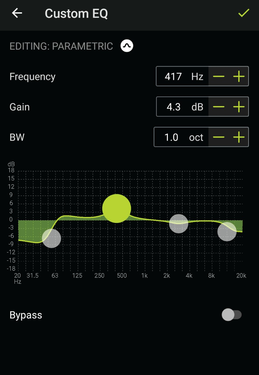 shure-aonic-50-wireless-headphone- Use Screen Orientation to Adjust EQ