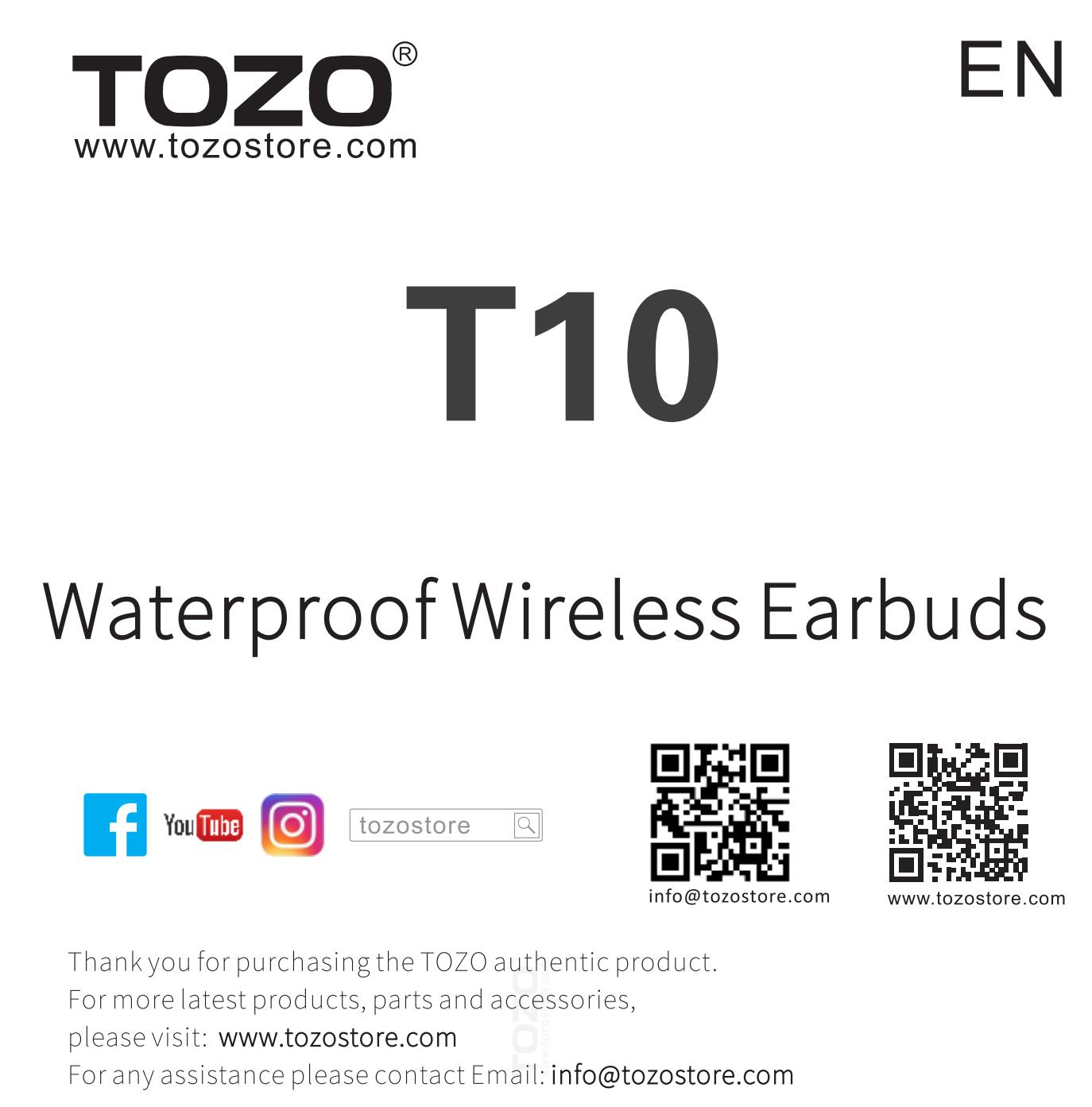 tozo-t10-tws-wireless-earbuds-pairing-guide- T10