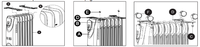 Life Smart Oil Filled Radiator Heater SH37 - ASSEMBLY INSTRUCTIONS